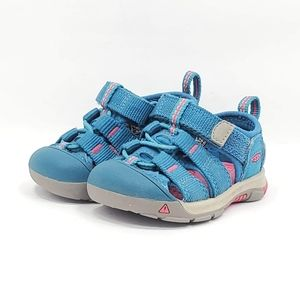 KEEN Toddler's Newport H2 BLUE/ PINK Hiking trail